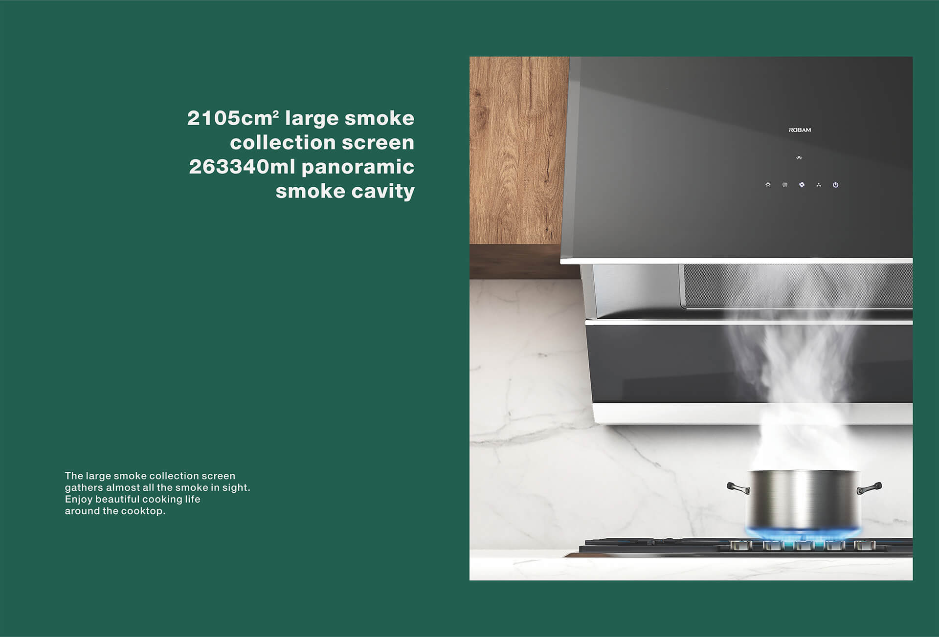 when my range hood is dirty,it is very convenient ro clean<br /> It seems that my range hood won't be dirty<br /> ● Extreme stamping technology creates a new LA++ filter sceen, filtering more than 92% heavy oil.<br /> ● Strong suction, instant pressurization, completelty push the residual oil smoke out of the range hood.