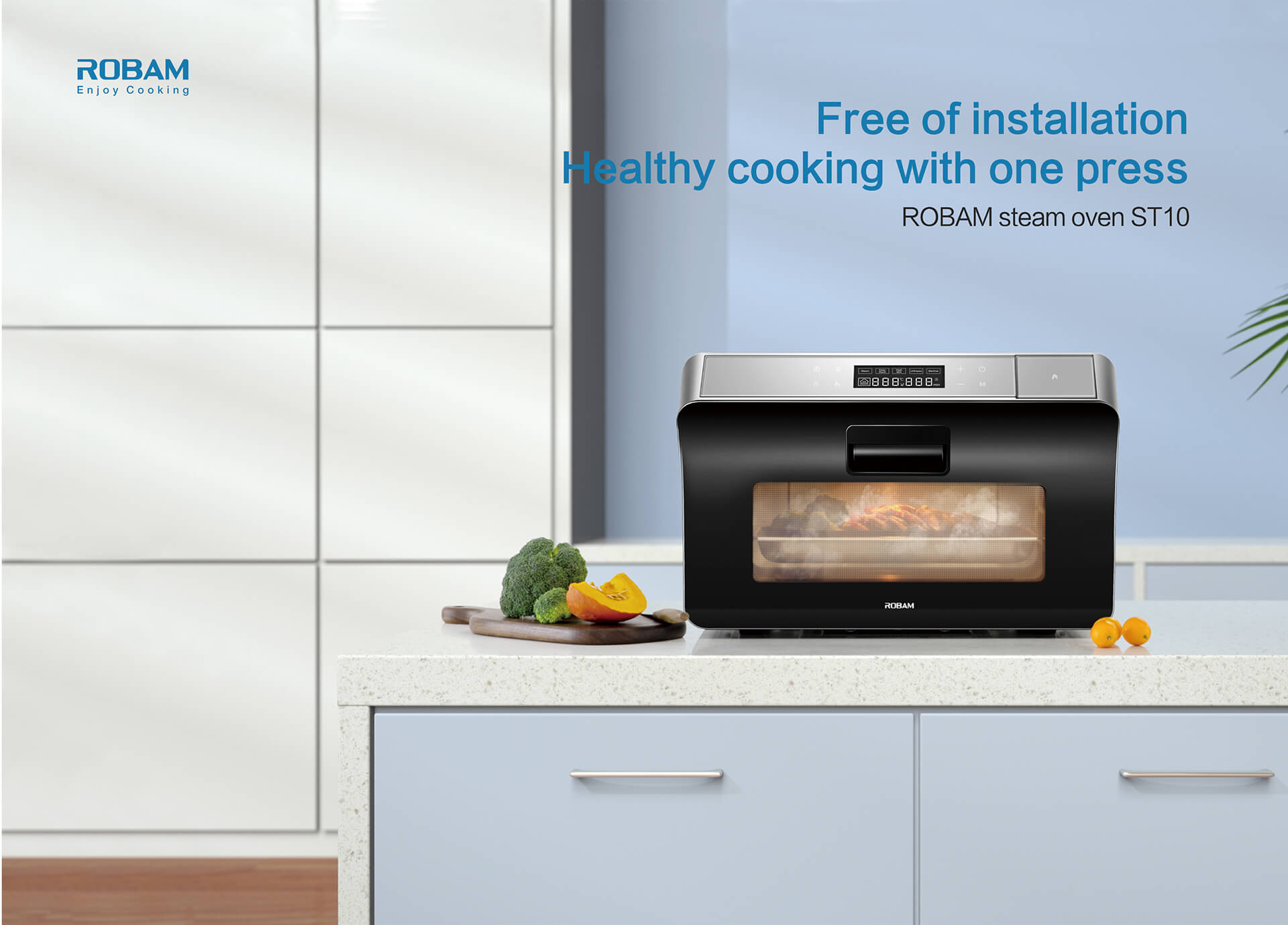 Free of Installation,space is not limited one button for healthy taste<br /> ROBAM steam oven  ST10