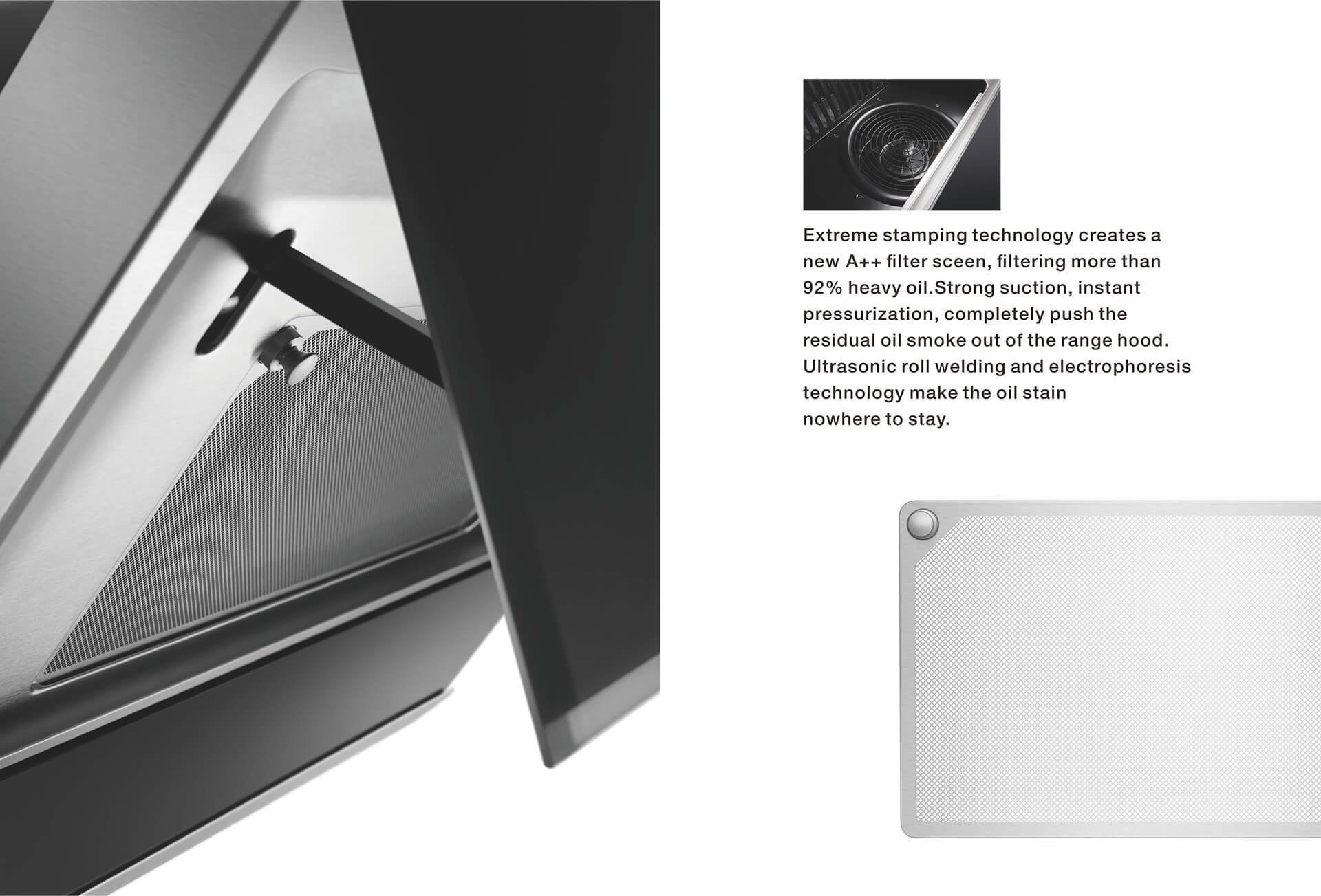 ● Easy to dismantle and clean<br /> ● Strong air suction grille